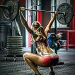 crossfit girl hot overhead squat bumper