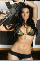 AR 15 hot girl brunette coupons