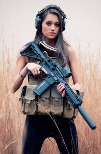 Hot girl AR 15 babe