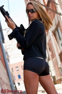 Hot girl AR 15 black
