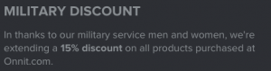 onnit military discount