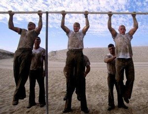 navy seal pull ups beach