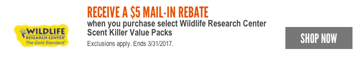 rebate wildlife research center scent killer