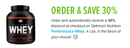 optimum nutrition whey protein discount coupon