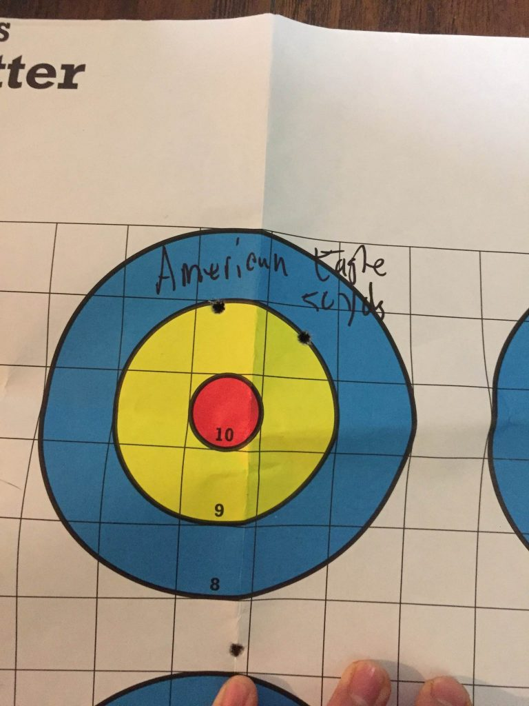 American Eagle 50 yds with Irons
