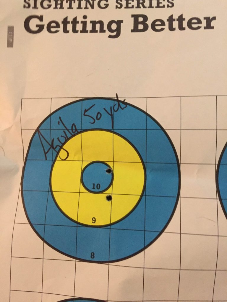 Aguila 50 yds with Irons