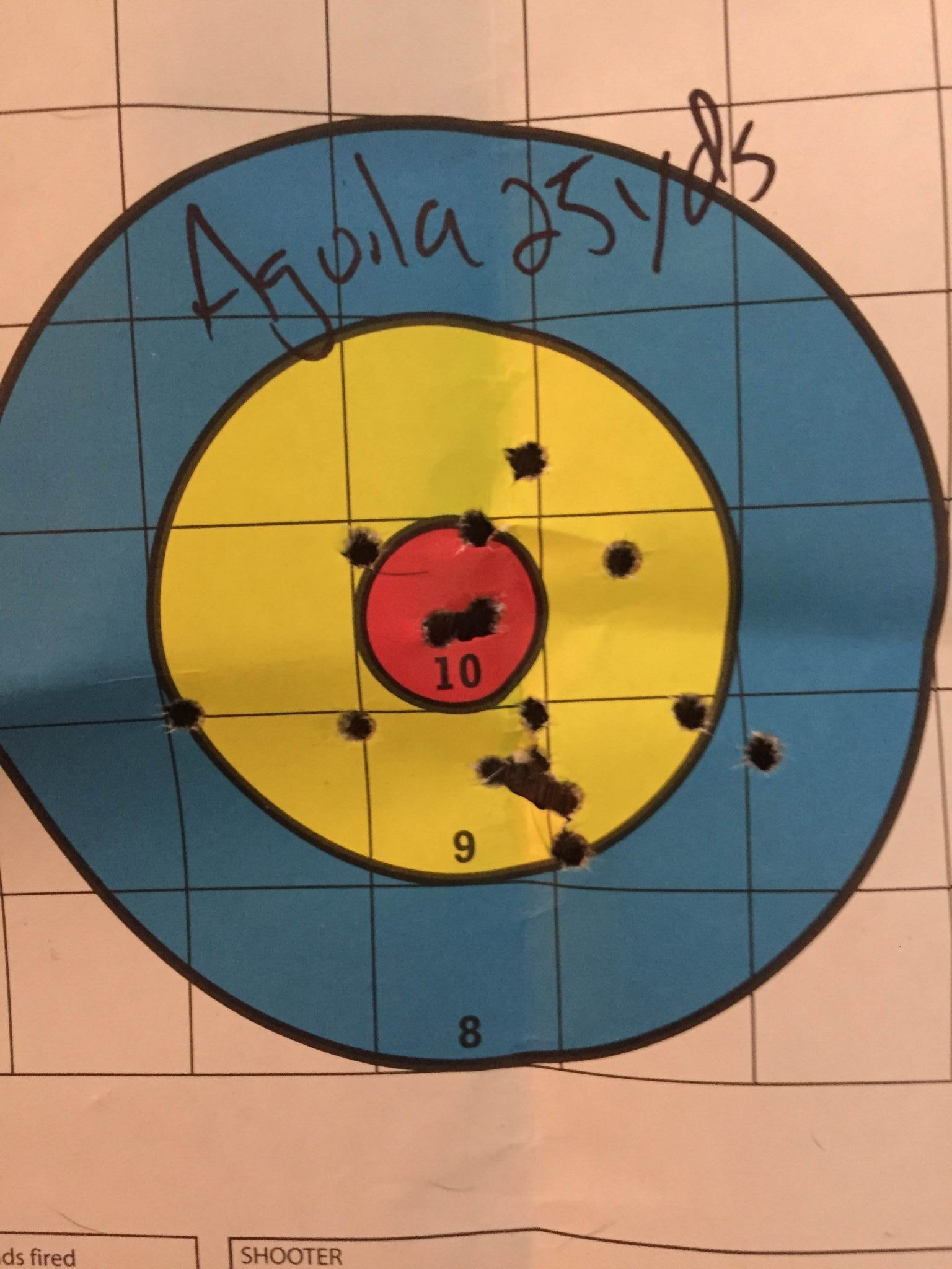 Aguila at 25 yd with irons