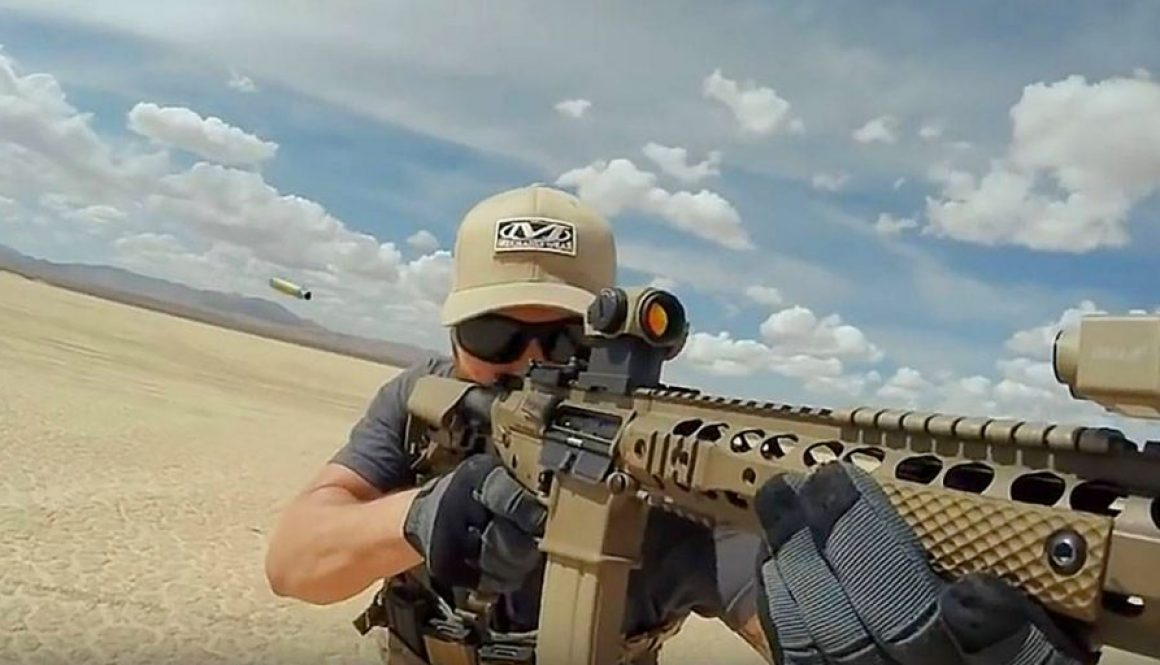 Former Navy SEAL Team 6 Member Mark Owen Gets Down and Dirty at Fire Range_