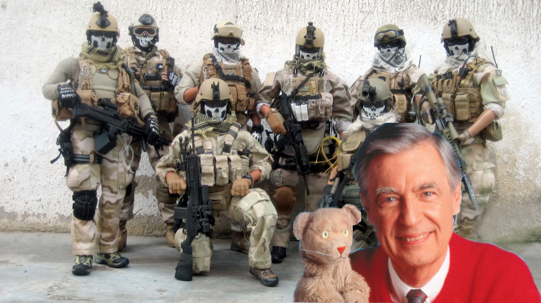 Fred Rogers Not Your Marine Sniper Or Navy Seal Neighbor Sealgrinderpt